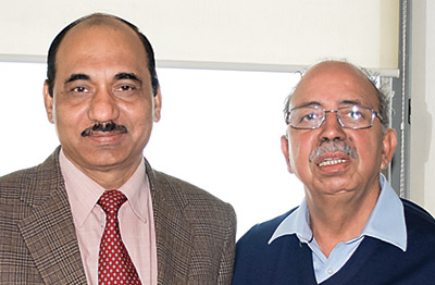R to L: Mr. B.M. Khanna, Chairman, Khanna Paper Mills Ltd and  Dr. Ashok Kumar, President, Khanna Paper Mills Ltd