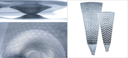 Conical Cell bagless filter sectors – close-up view  |  ANDRITZ Conical Cell bagless sectors