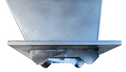 Tapered positioning plate